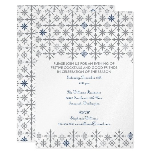 Snow Flurries Party Invitation