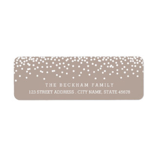 Snow Flurry Holiday Return Adress Labels / Beige