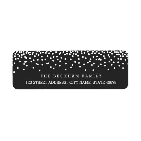 Snow Flurry Holiday Return Adress Labels / Grey