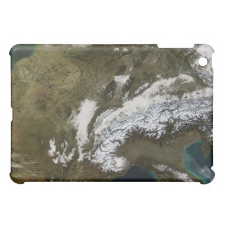 Snow, fog, and low clouds in western Europe Case For The iPad Mini