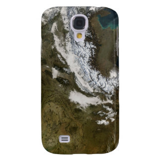 Snow, fog, and low clouds in western Europe Galaxy S4 Case