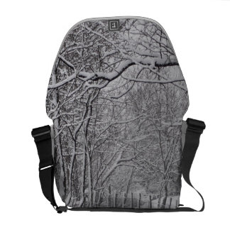 Snow Forrest Messenger Bags