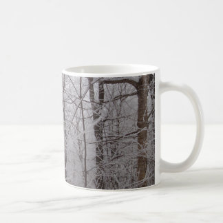 Snow Frosted New England Trees Coffee Mug