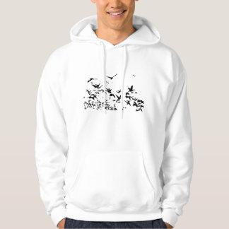 Snow Geese Birds Wildlife Flying Sweatshirt