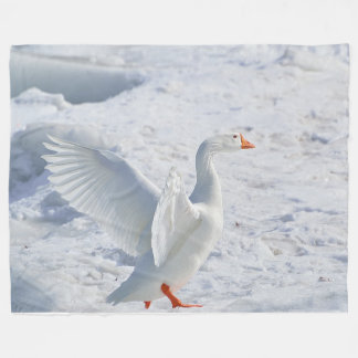 Snow Geese Large Fleece Blanket