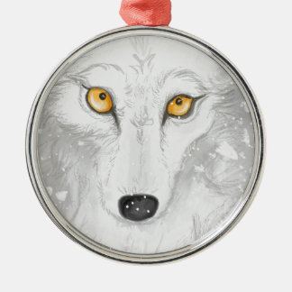 Snow ghost by Morgana Silver-Colored Round Decoration
