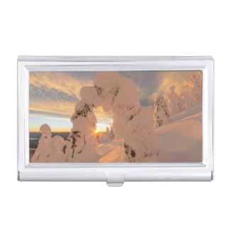 Snow Ghosts In The Whitefish Range Business Card Holder