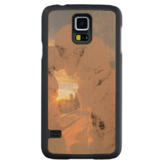 Snow Ghosts In The Whitefish Range Carved Maple Galaxy S5 Case