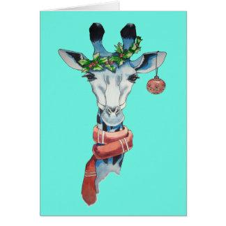 Snow giraffe card