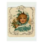 """""""Snow Girl"""" Christmas Postcard"""