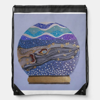 Snow globe 2 drawstring bag