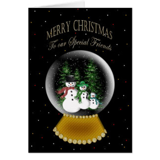 SNOW GLOBE - CHRISTMAS - SPECIAL FRIENDS GREETING CARD