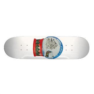 Snow Globe Crystal Ball Winter Village Christmas 21.3 Cm Mini Skateboard Deck