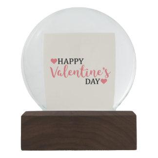 Snow Globe for Valentine's Day with heart Confetti