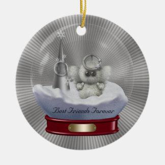 Snow Globe Friends Forever Christmas Ornament