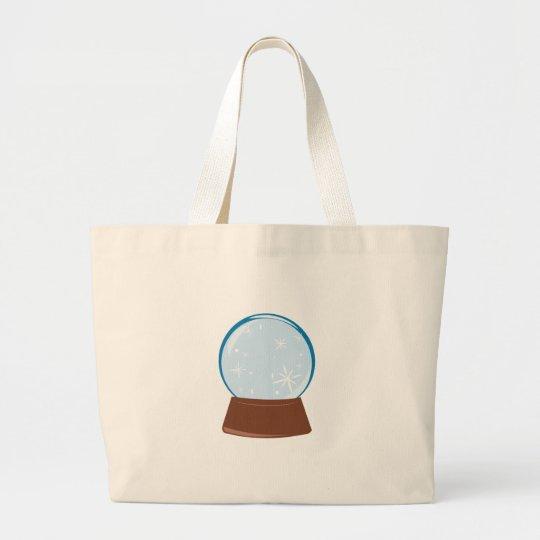 Snow Globe Large Tote Bag