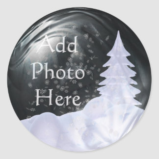 Snow Globe Photo Placement Sticker