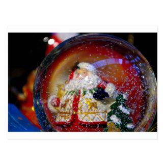 Snow Globe. Post Card