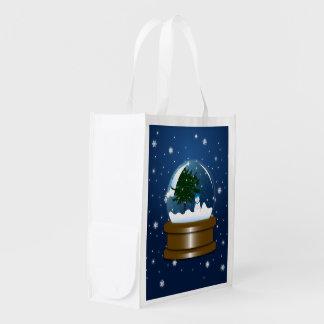 Snow Globe Reusable Grocery Bag