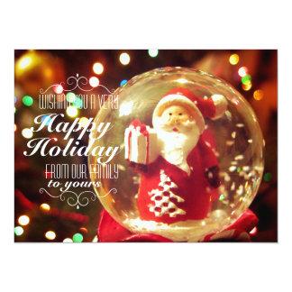 Snow globe Santa Claus 14 Cm X 19 Cm Invitation Card