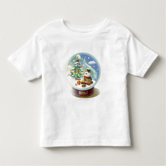 Snow globe with snowman and Christmas tree Toddler T-Shirt