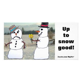 Snow Good Custom Photo Card