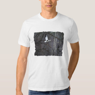 Snow Goose in Flight T-shirts
