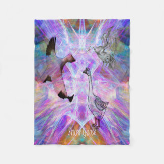 Snow Goose Moon Fleece Blanket