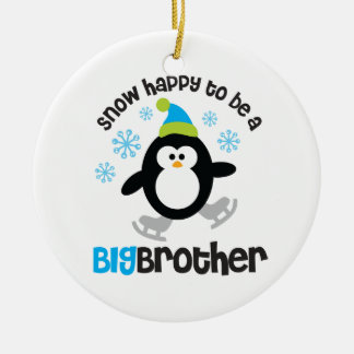 Snow Happy to be a Big Brother Christmas Ornament