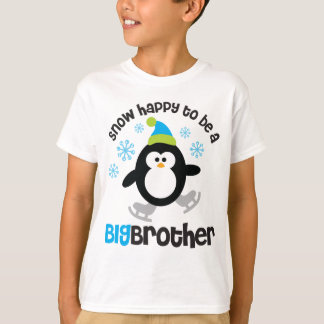 Snow Happy to be a Big Brother T-Shirt