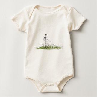 Snow Hare Baby Bodysuit