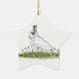 Snow Hare Christmas Ornament