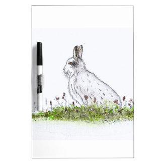 Snow Hare Dry Erase Board