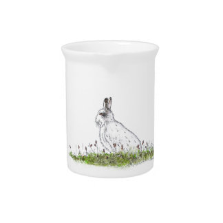 Snow Hare Pitcher