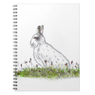 Snow Hare Spiral Notebook