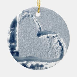 Snow Heart Christmas Ornament