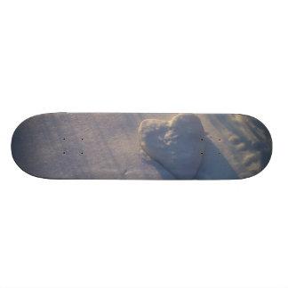Snow Heart Skate Board Deck
