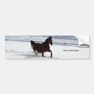 Snow Horse Bumper Stickers