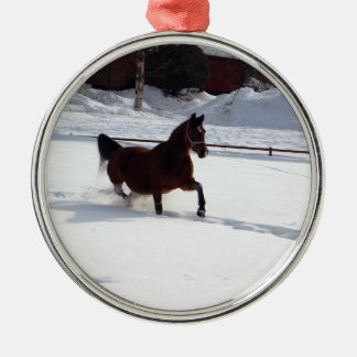 Snow Horse Christmas Ornament