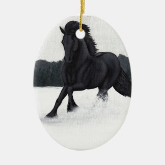 Snow Horse Collection Christmas Ornament