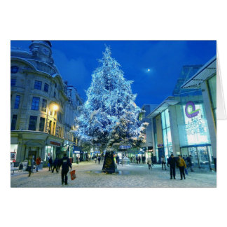 Snow in Cardiff Greeting Card