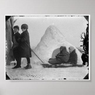 Snow in Jerusalem 1921 - Poster