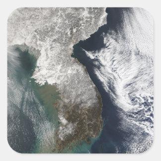 Snow in Korea Square Sticker