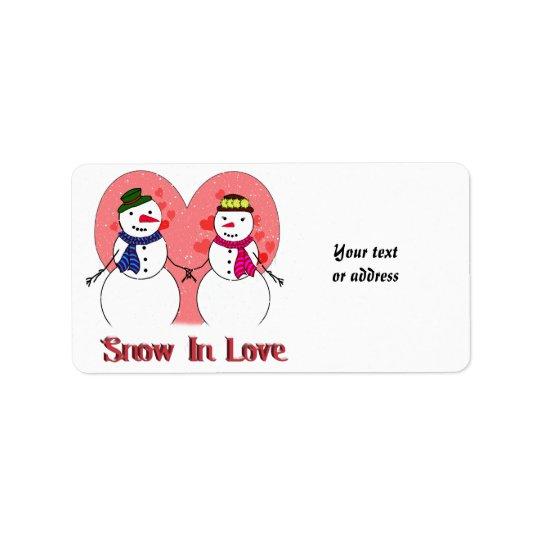 Snow in Love Address Label