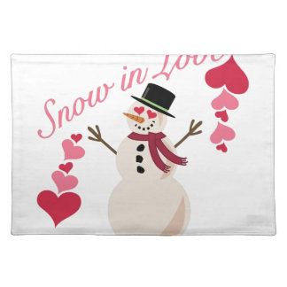 Snow In Love Placemat