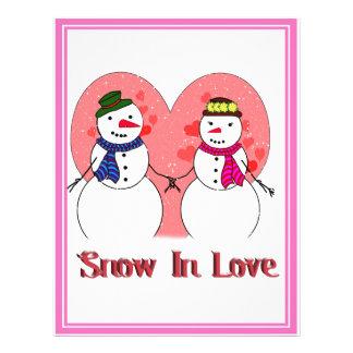Snow In Love Flyer Design