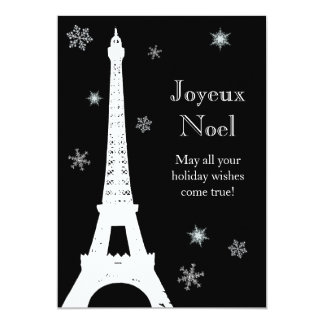 Snow in Paris Holiday Card 13 Cm X 18 Cm Invitation Card