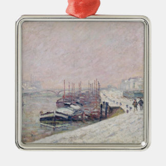 Snow in Rouen Christmas Ornament