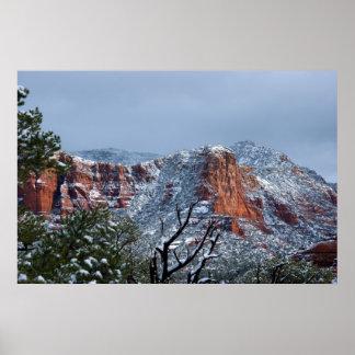 Snow in Sedona Arizona 2812 Poster