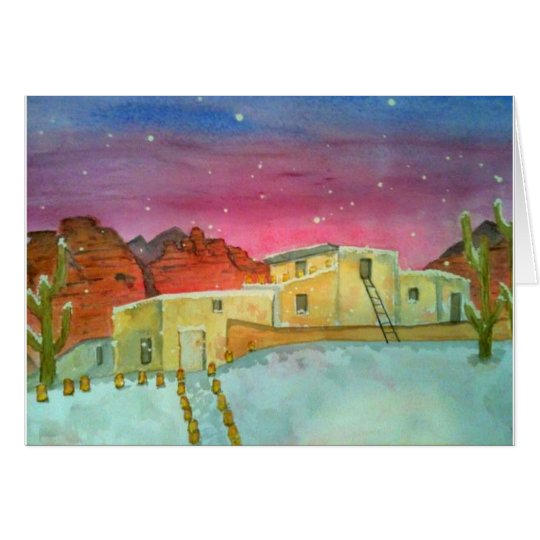 Snow in Sedona Card